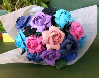 Bouquet of 12 roses origami