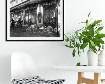 Paris street drawing, Oryginal drawing, Parisian style, Drawing from Paris, Sketch from Paris , Art from Paris, Cafe montmartre, Montmartre