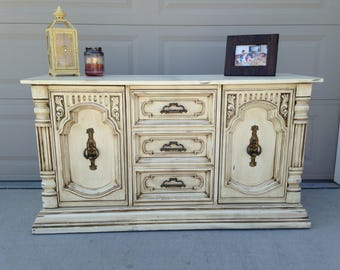 SOLD- Antiqued Buffet