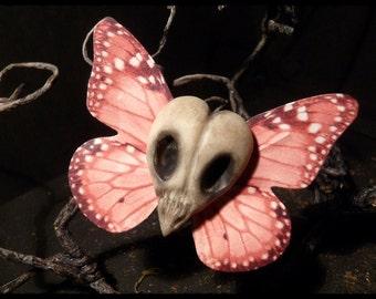 Bird skull hair clip (Pink)