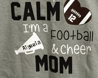Football/Cheer Mom T-shirt