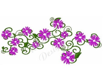 Purple Daisies - Machine Embroidery Design