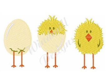 Easter Chicks - Machine Embroidery Design