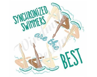 Synchronized Swimmers - Machine Embroidery Design