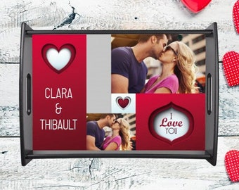 Plate personalized with your photo and text personalized gift for lovers