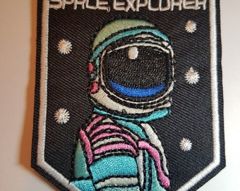Space Explorer astronaut  Iron On Patch Sew On Transfer Badge