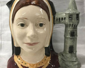 Vintage Royal Doulton Catherine Of Aragon Large Character Jug D6643 Henry VIII Six Wives
