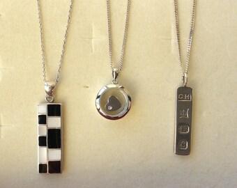 Hallmarked Silver Trio of Necklaces.