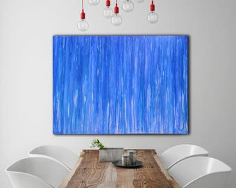 Blue ABSTRACT PAINTING Custom Unstretched Painting Modern Art Large Canvas Art Original Painting Extra Large Painting Large Canvas Art