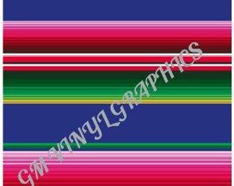 "Serape Patterned Vinyl / Heat Transfer Vinyl / HTV  12""X18"" #1"