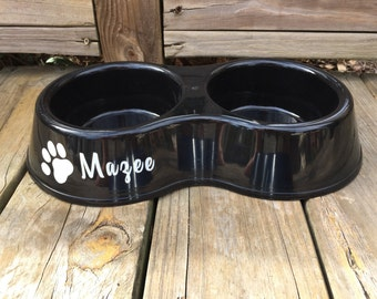Double DOG BOWL! Dog Bowl Personalized - Personalized Pet Bowl - Custom Dog Bowls - Dog Dish - Personalize Dog Bowl - Dog Bowls