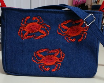 Maryland Crabs Purse (sold but will take orders)