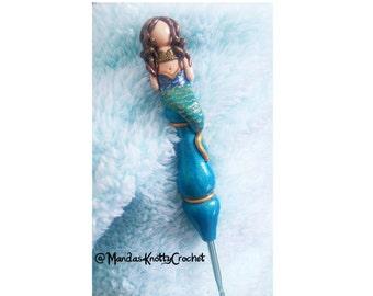 Milly the Mermaid Ergonomic Crochet Hook