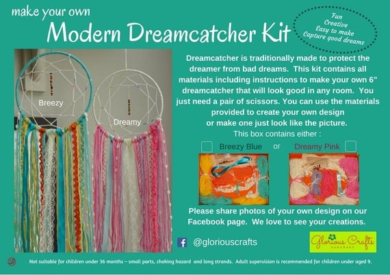 Make your own dreamcatcher kit 6 dreamcatcher diy craft for How to tie a dreamcatcher web
