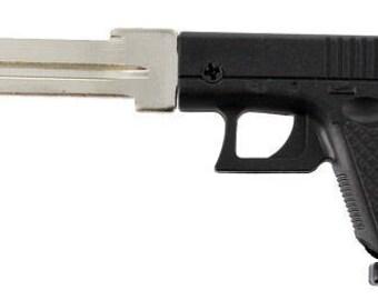 Gun Key Blank House Key Full 3D Black Polymer Mold Semi-Auto Gun Schlage House Key SC1 ~ FREE Gift Box!
