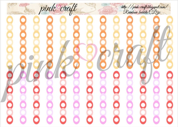 Checklists planner stickers. Rainbow bubble collection CL1żr