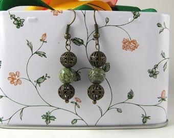 Three ball earring