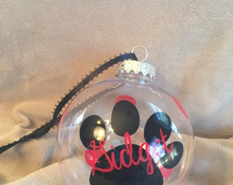 Doggie Paw Ornament with Name