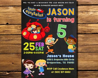 Little Einsteins Birthday Invitation, Little Einsteins Invitation, Little Einsteins Invite, Little Einsteins Party