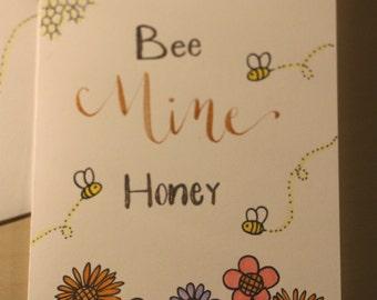 Bee Mine Honey, Valentine's Day Card