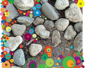 Rocks and Circles Art Print, Art Print, Office Art Print, Living Room Art Print, Fine Art Print