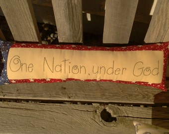 One nation, under God...Patriotic pillow