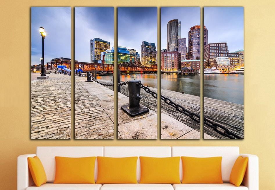 Boston Print Boston Wall Art Boston Canvas Boston Wall Decor