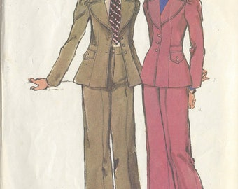 1972 Vintage Sewing Pattern B36-W28 PANTS & JACKET (R695) By Simplicity 5250
