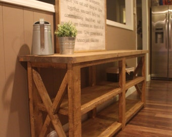 Rustic X Farmhouse Console Table *(Local Pick-Up ONLY)*