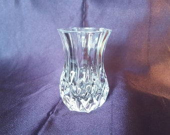Vintage Cristal D'Arques Longchamp Violet Vase
