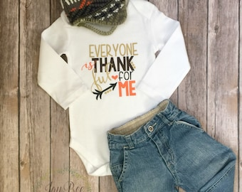 Every One Is Thankful For Me | Baby Bodysuit | Thanksgiving Outfit