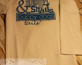 Boys Snips and Snails Onesie