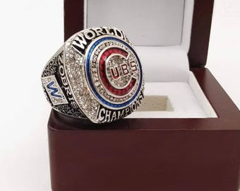 Chicago Cubs (2016) Replica World Series Championship Ring (2017 Design) - Zobrist / Bryant / Rizzo