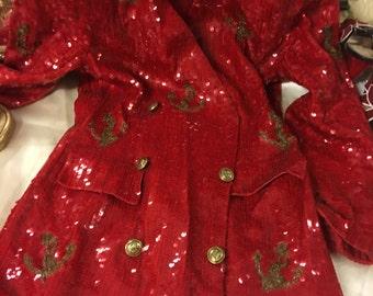 Red Sequin Suit