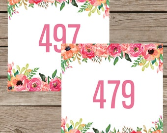 Hanger Numbers for Facebook , Mirrored Live Sale Tags Reversed , 1-500 Normal Mirrored Live Sales Digital File Instant Download LLR004