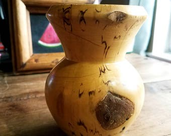 Colorado Aspen Wood Creations Turned Wood Vase by JBE Johnson