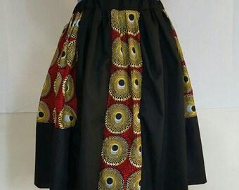 African Print A-Line Skirt
