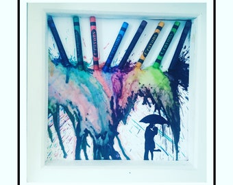 Crayon art Designs/with or without frame can be personalised
