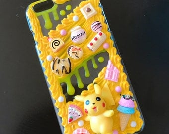 READY TO SHIP Pikachu decoden case for iPhone6 plus/ iPhone6s plus