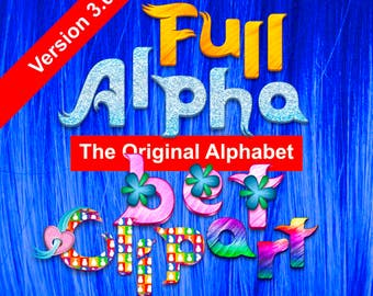 Trolls - The Original Alphabet Clipart - 336 png files 6 Full Alphabets 300 dpi - Trolls Party