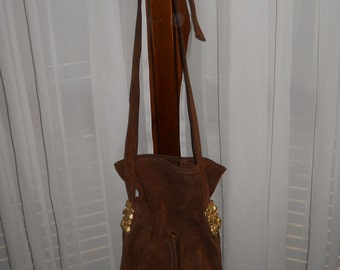 Vintage bucket bag ! Genuine suede !