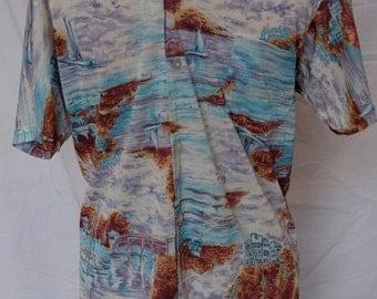 Vintage Men's button-down shirt - by Enrico