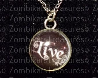 Live Bubble Pendant Necklace