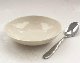 Porcelain Bowl. White Glazed Ceramic Bowl. Minimalist Dining. Simple Kitchen Home Decor. FebbieDay Ceramics.