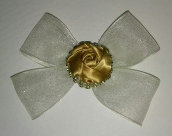 Gold Rose Bow