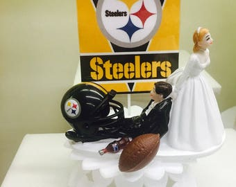 pittsburgh steelers wedding cake topper pittsburgh cake etsy 18624
