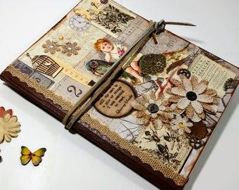 Victorian Steampunk Journal, Vintage Journal, Altered Notebook, Steampunk Journal, Writing Journal, Unique Journal, Graduation Gift