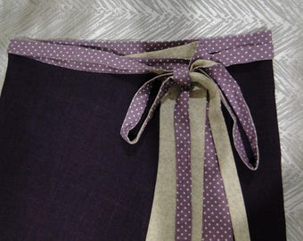 Girls skirt. Tweens skirt. Tween girls skirt. Tween girls wrap skirt. Tweens skirt. Purple skirt. Purple wrap skirt. Adjustable skirt.