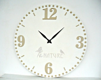 20 Inch White Wall Clock  Wall Decor, large wall clock, big clocks for the wall, big clocks for living room