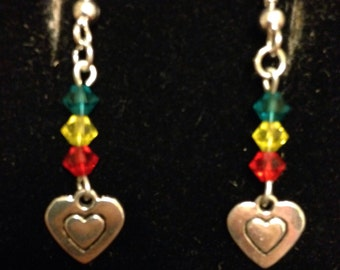 A Heart with Color Earrings